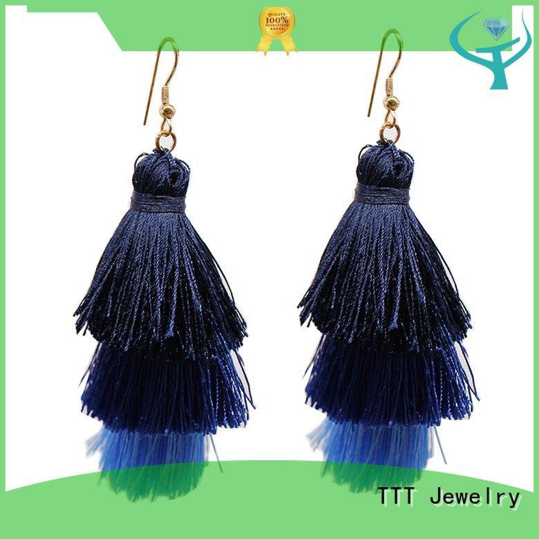 tassel earrings women TTT Jewelry tassel earrings