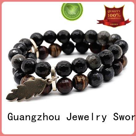 Hot stone bracelet designs brown tiger natural TTT Jewelry Brand