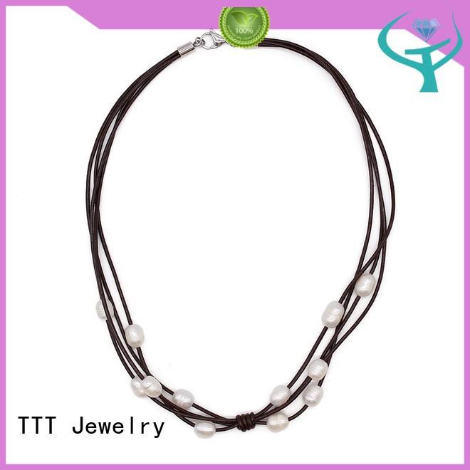 pearl freshwater plain black choker necklace TTT Jewelry Brand