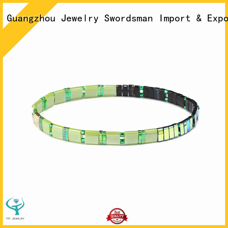 eco-friendly tile bead bracelet patterns stacking purchase online for wedding