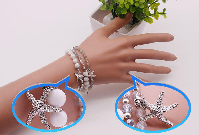 competitive price rose stone bracelet doublelayers great deal for trader-1