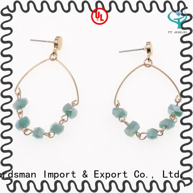 TTT Jewelry dangle crystal stud earrings overseas market for trader