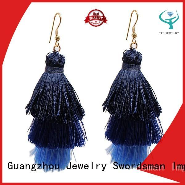 professional short tassel earrings hoop awarded supplier for e-commerce