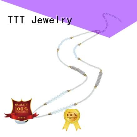 Quality TTT Jewelry Brand crystal stone pendant necklace