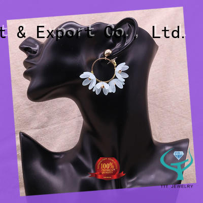 TTT Jewelry beads massive hoop earrings customized for small business