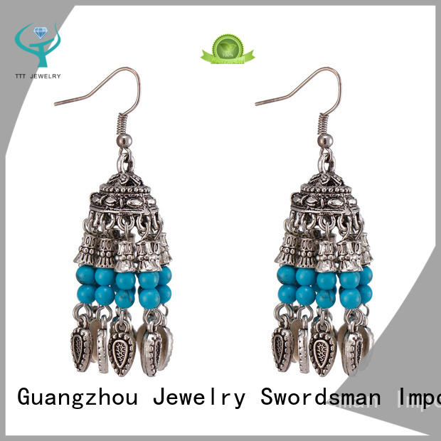 TTT Jewelry best long stone earrings factory for trader