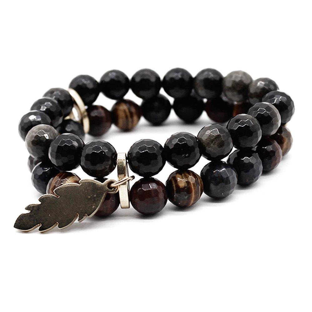 Brown Tiger Eye Natural Stone Beads Handmade Bracelet