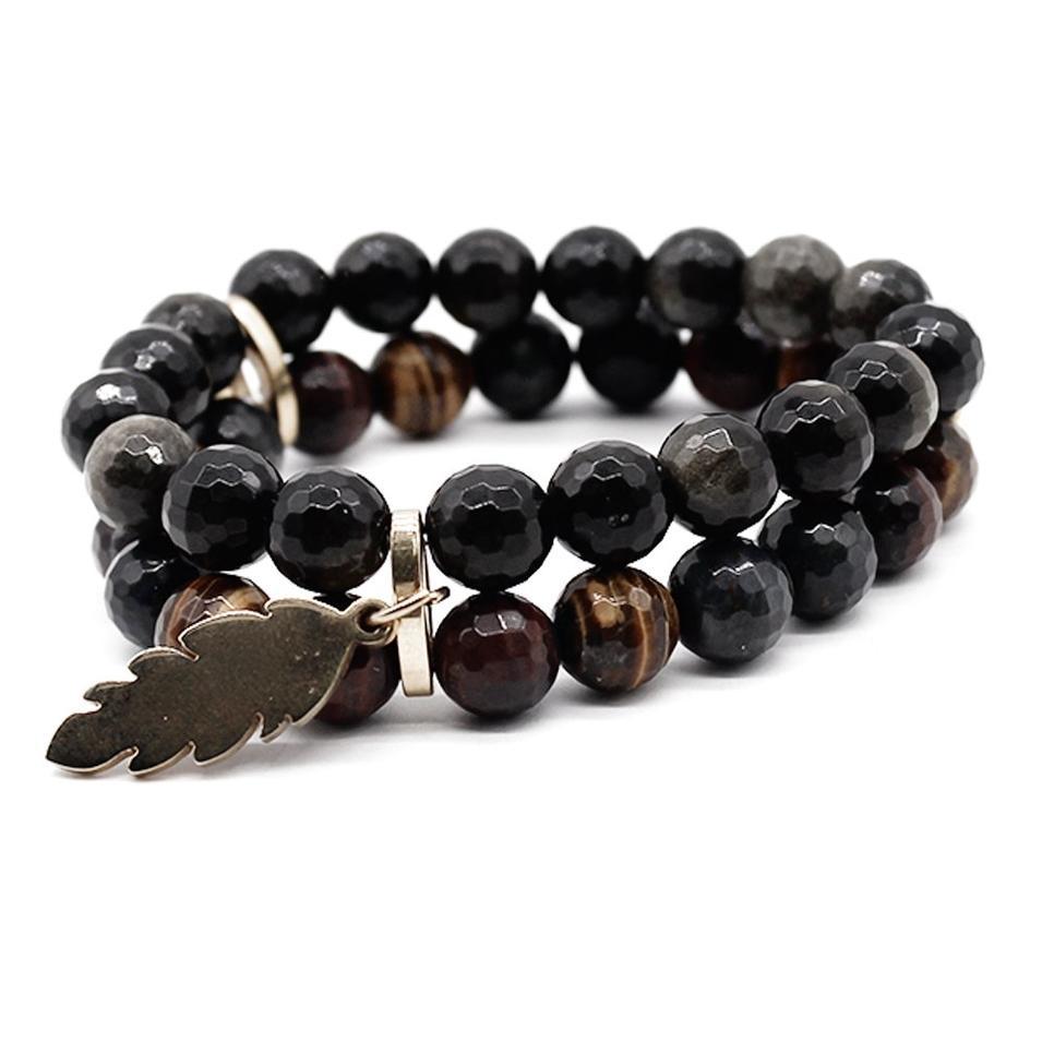 Brown Tiger Eye Natural Stone Beads Handmade Bracelet