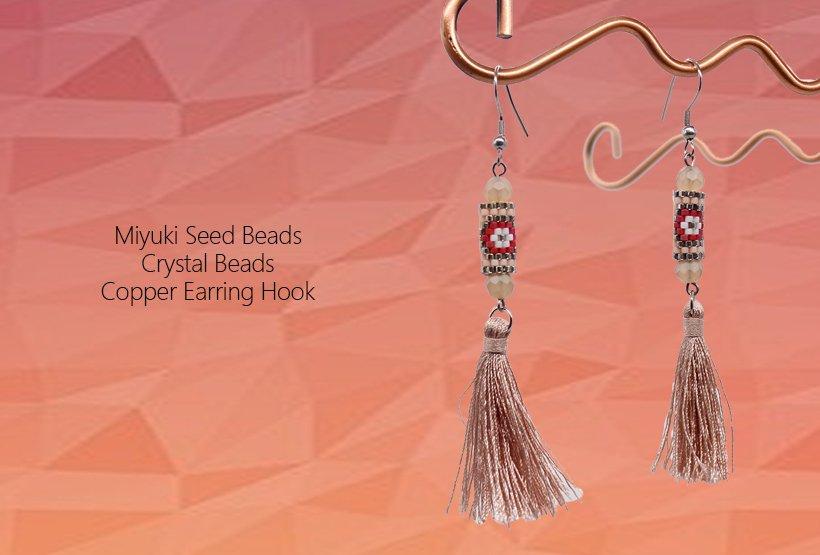 Handmade Glass Beaded Jewelry of Miyuki Earrings
