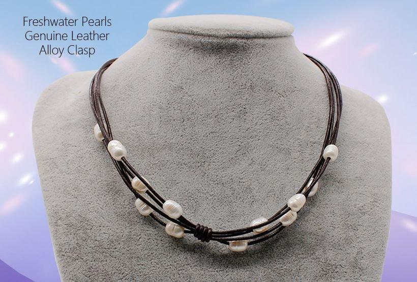 plain black choker necklace pearls freshwater chokers necklace Bulk Buy