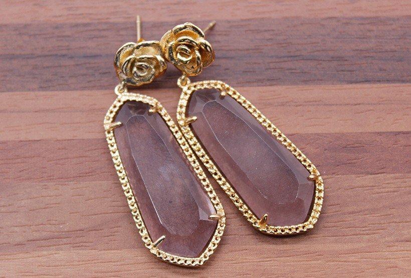 parts natural metal earrings TTT Jewelry gemstone earrings