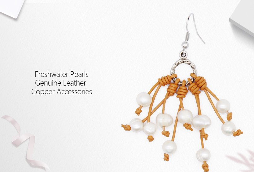 Latest Fashionable Dendritic Style Pearl Earrings