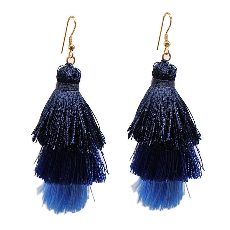 Bohemian 3-in-1 Tassel Earrings