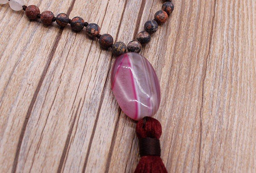 personalized pendant necklace natural stone Warranty TTT Jewelry