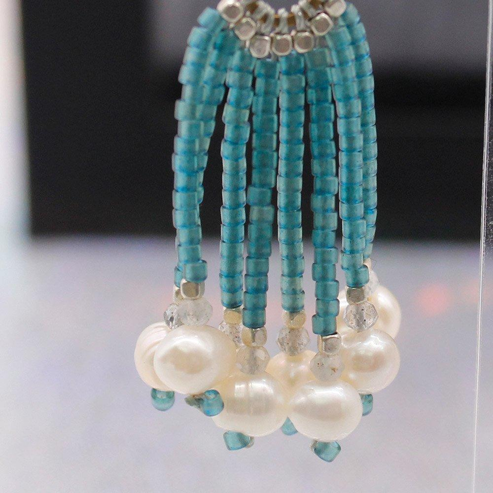 Fashion Handmade Earrings with Pearls and Seed Beads