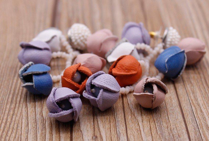 handmade earrings raffia OEM boho earrings TTT Jewelry