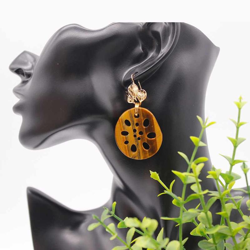 Special Simple Design Cute Lotus Root Pendant Alloy Leaf Earrings for Women Girls from China Handmade Manufacturer