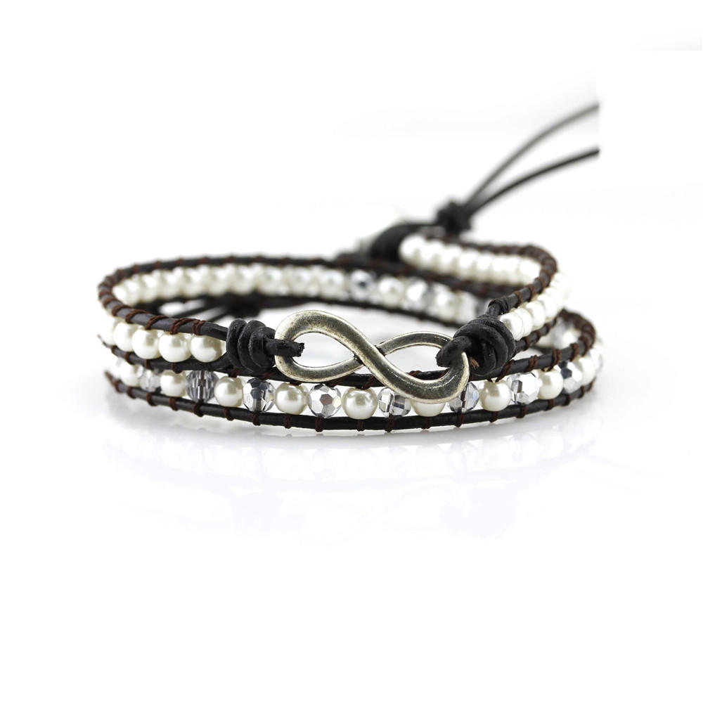 TTT Jewelry Brand bracelet leather adjustable leather beaded bracelets