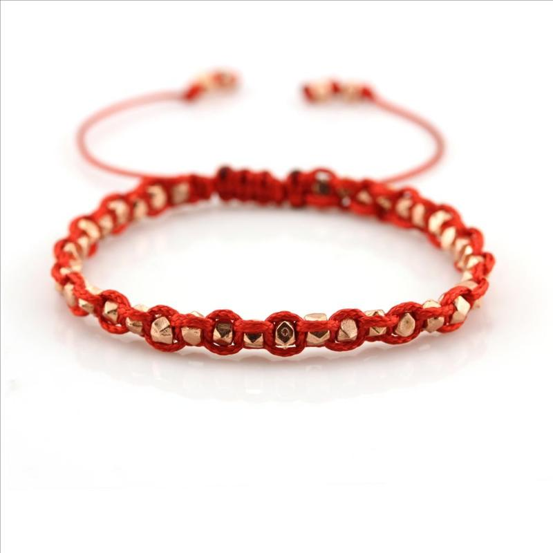 Handmade Woven Friendship Rope Stainless Steel Beads Bracelet Bulk Sale Great Party Favors for Kids Teens Girls Boys
