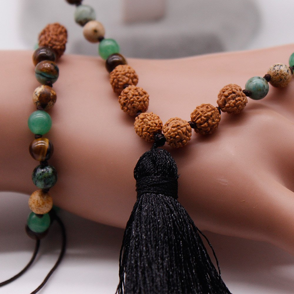 TTT Jewelry 108 Mala Necklace Bracelet Set Pure Handmade Mala Necklace image6