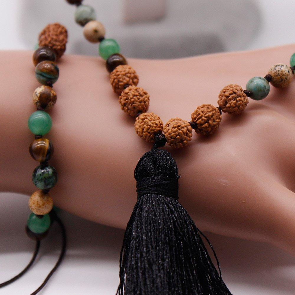 108 Mala Necklace Bracelet Set Pure Handmade