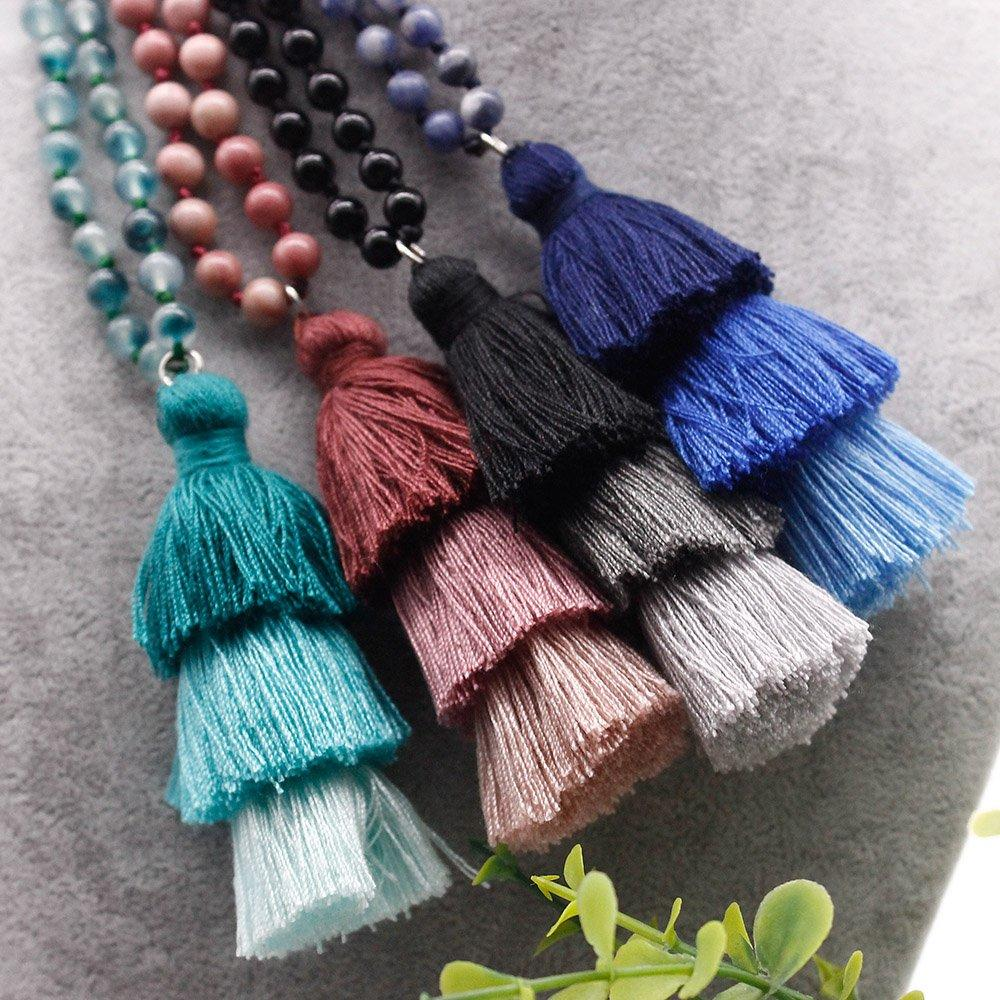 108 Natural Beads Mala Necklace Pure Handmade Wholesaler