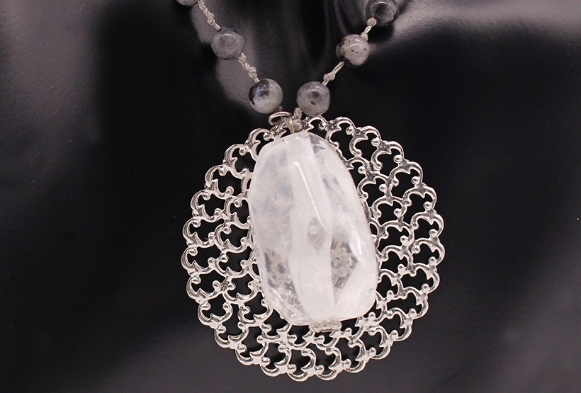 White Crystal Pendant  Handmade Necklace Wholesale Jewelry