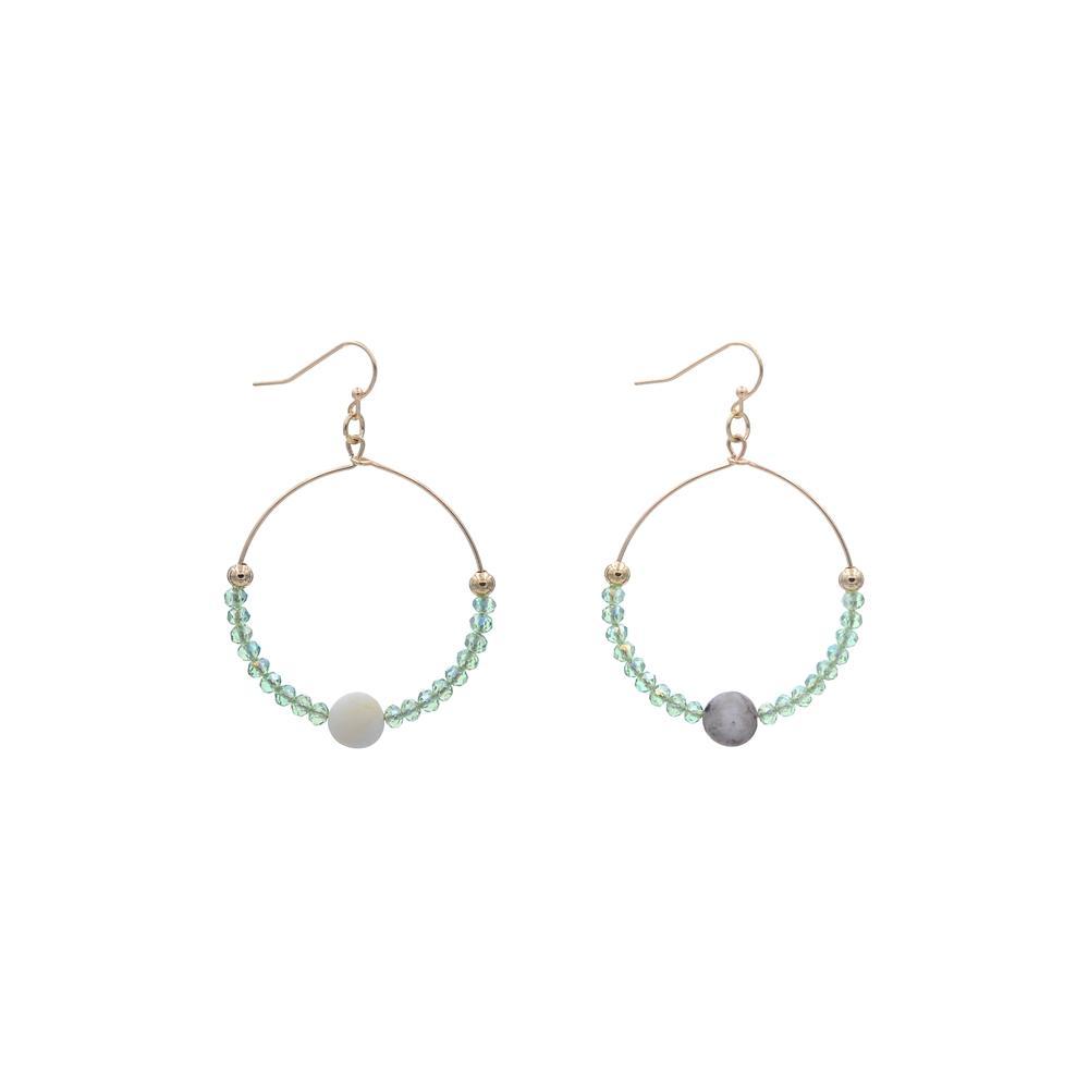 Hot blue stone earrings handmade TTT Jewelry Brand