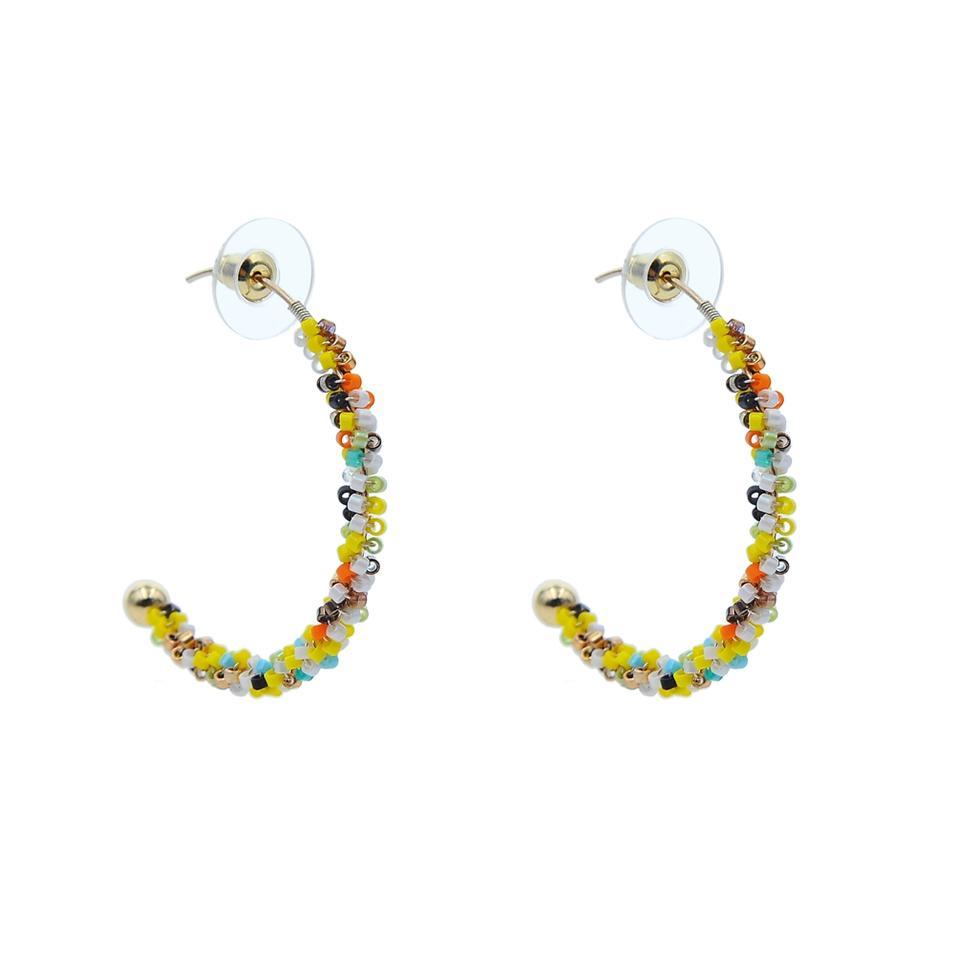 Fashion Handmade Multi Color Beads Earrings For Women