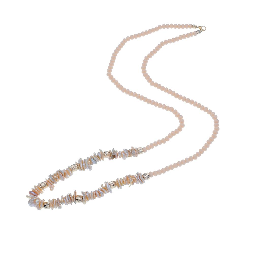 Bohemian Handmade Natural Pearl Crystal Beads Necklace