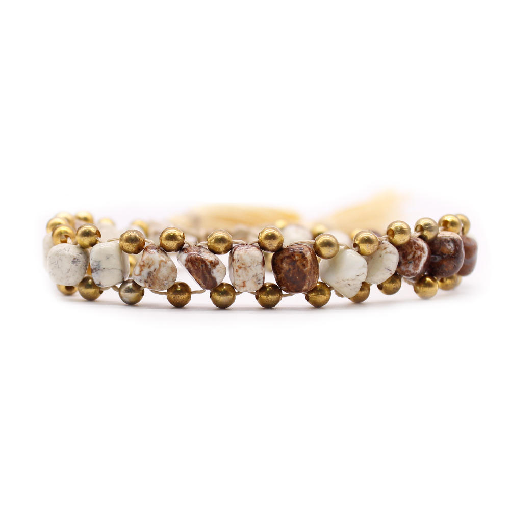 Natural Stone 3-Layer Handmade Bracelet