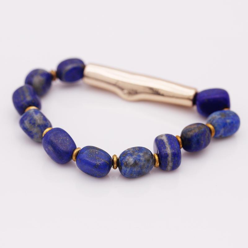 Handmade Natural Stone Lapis lazuli Bracelet For Women