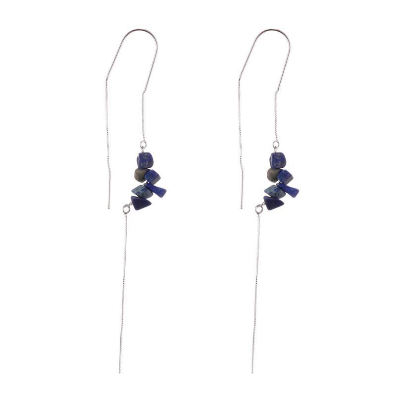 Handmade Lapis lazuli Beads Earrings For Women