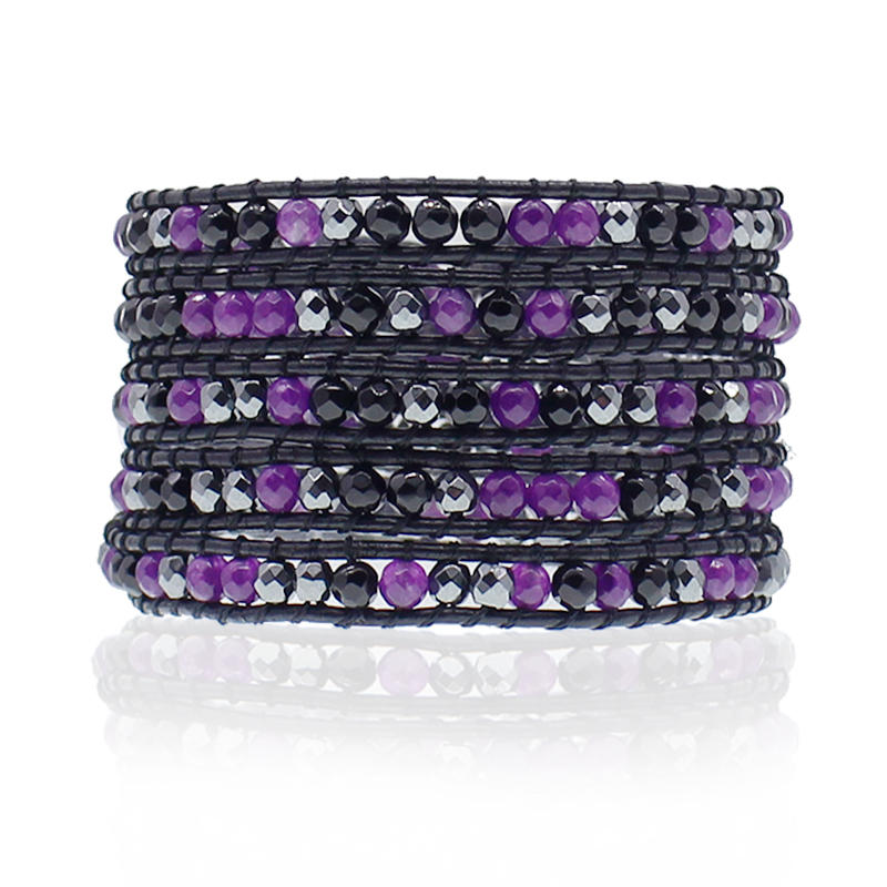 Handmade Crystal Beads Wrap Bracelet For Women