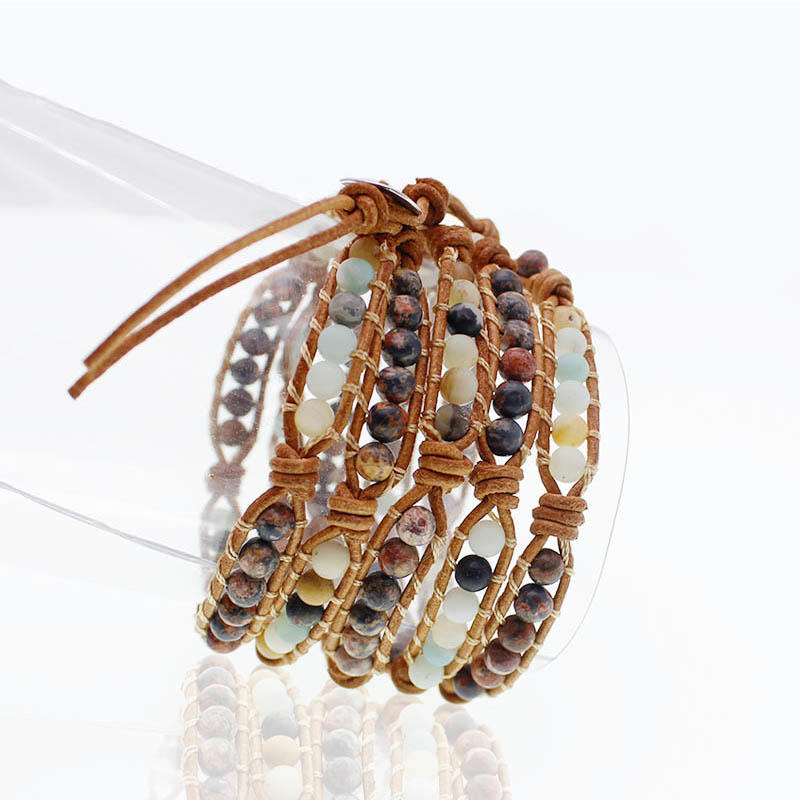 Handmade Natural Stone Beads 5 Wrap Bracelet