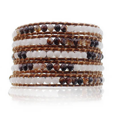 Wholesale natural skin white wrap bracelet TTT Jewelry Brand