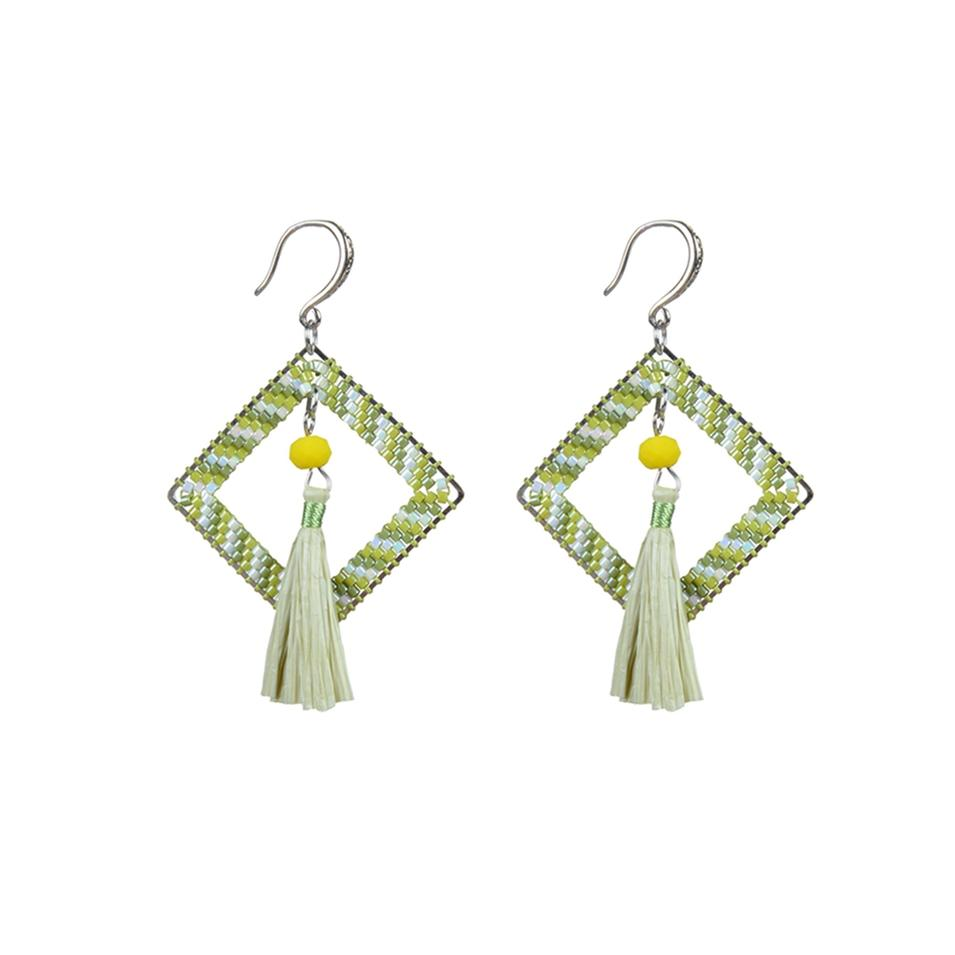 Dangle Earrings Pure Handmade Miyuki Seed Beads