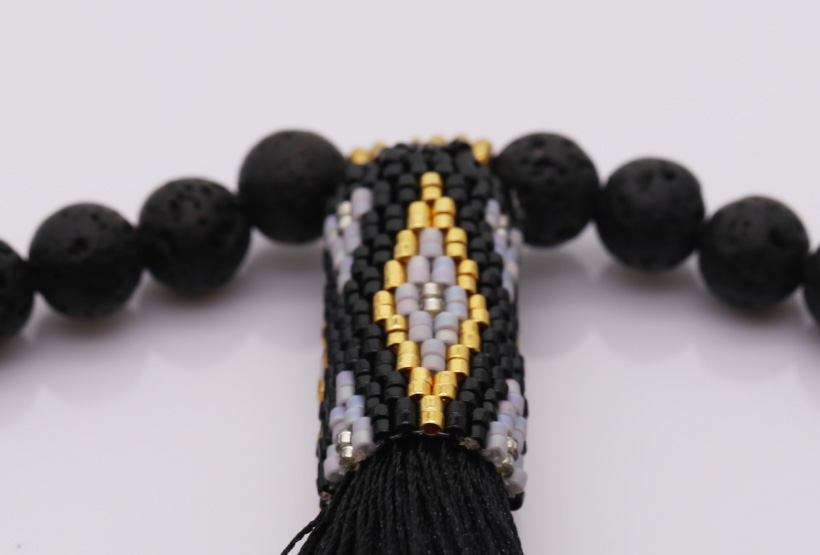 Handmade Miyuki Bead Necklace With Tassel wholesale jewelry