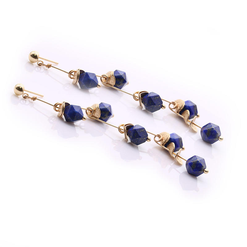 Handmade Lapis lazuli Drop Earrings