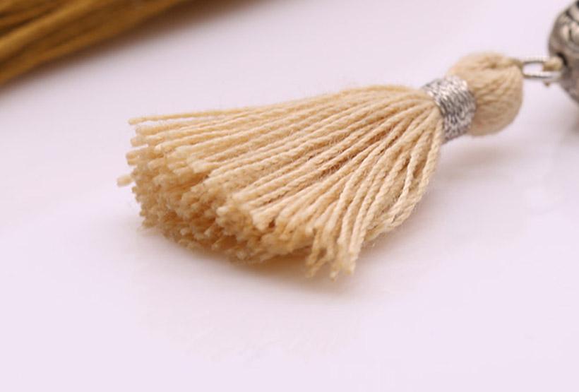 Handmade Natural Picture Jasper Beads Tassel Style Mala Necklace Bracelet Set
