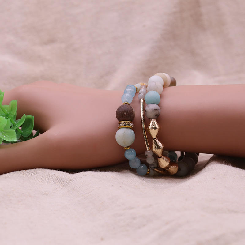 Handmade Mutilayer Stone Bracelet Set