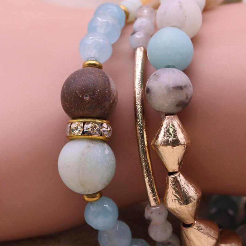 Handmade Mutilayer Stone Bracelet Set