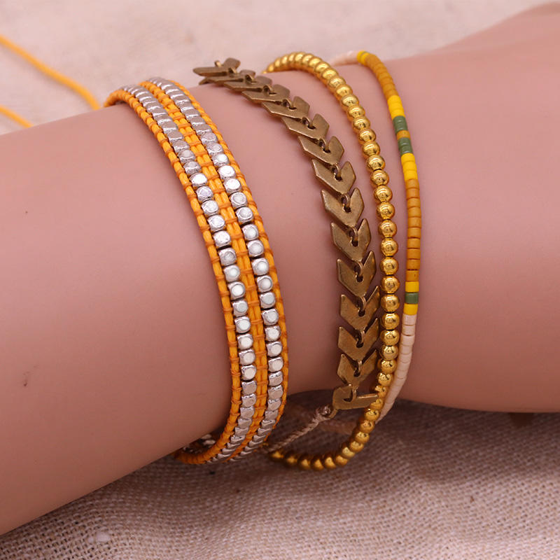 Handmade Miyuki And Copper Beads Bracelet Set