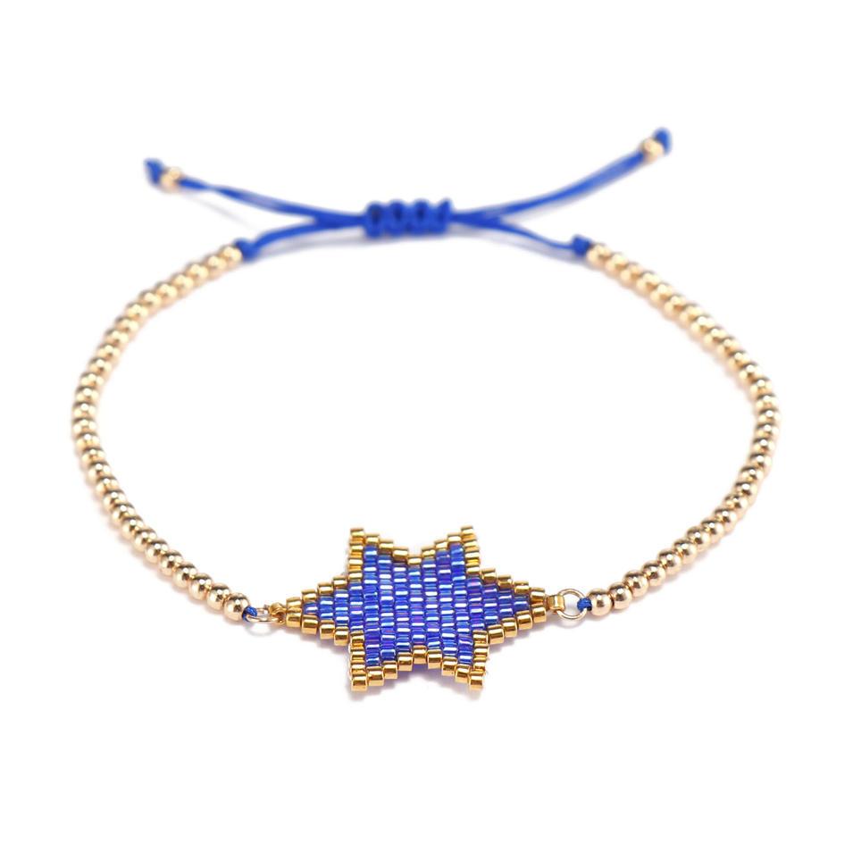 Handmade Copper Beads Pentagonal Miyuki Charms Bracelet