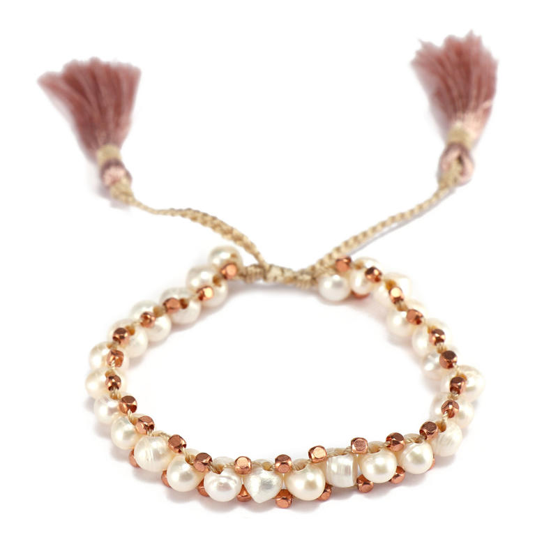 Handmade Natural Pearl Beads Bracelet