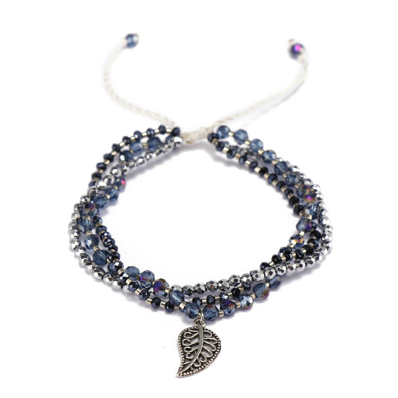 Handmade Mutilayer Stone And Miyuki Bracelet With Alloy Charms