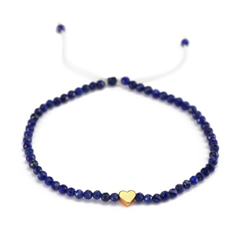 Handmade Stone Jade Cord Copper Charms Bracelet