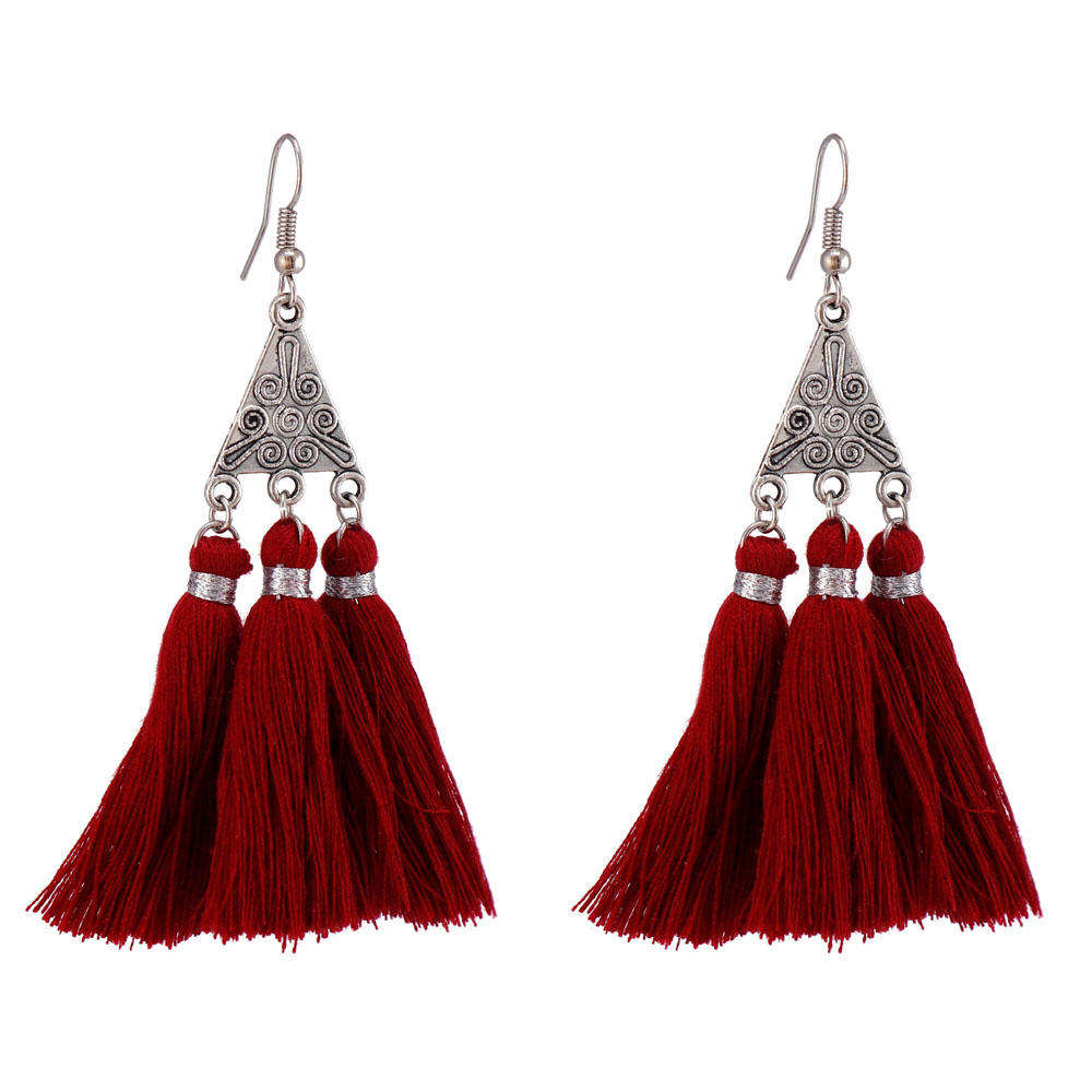 Handmade Clustered Tassel Earrings