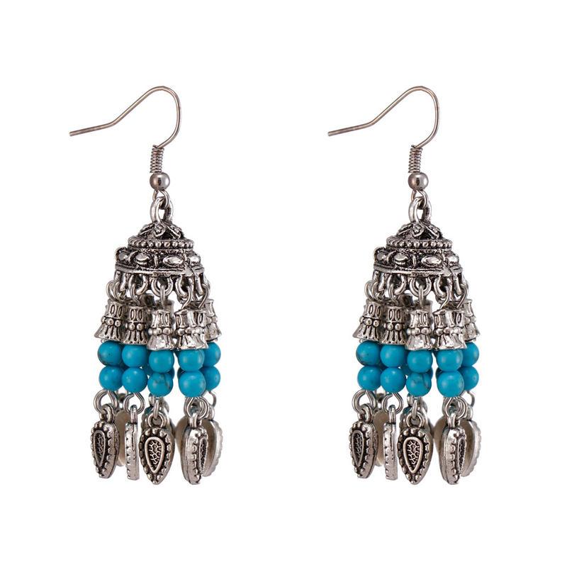 Handmade Stone Beads Drop Earrings