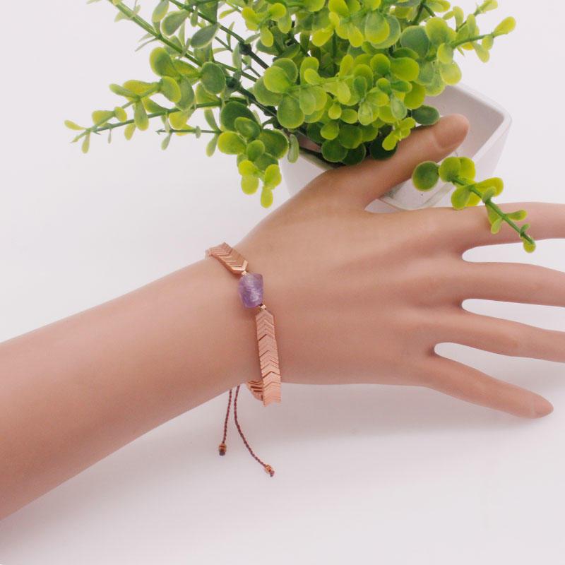 Handmade Hematite Natural Stone Charms Bracelet